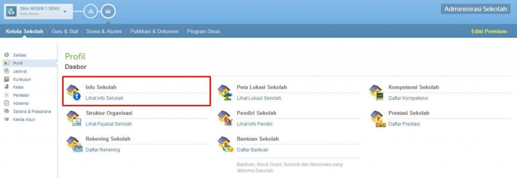 Sekolah Profil Dasbor