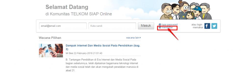 klik mendaftar