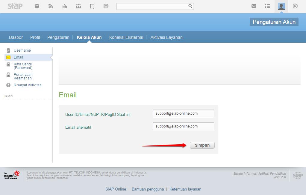 Email Alternatif