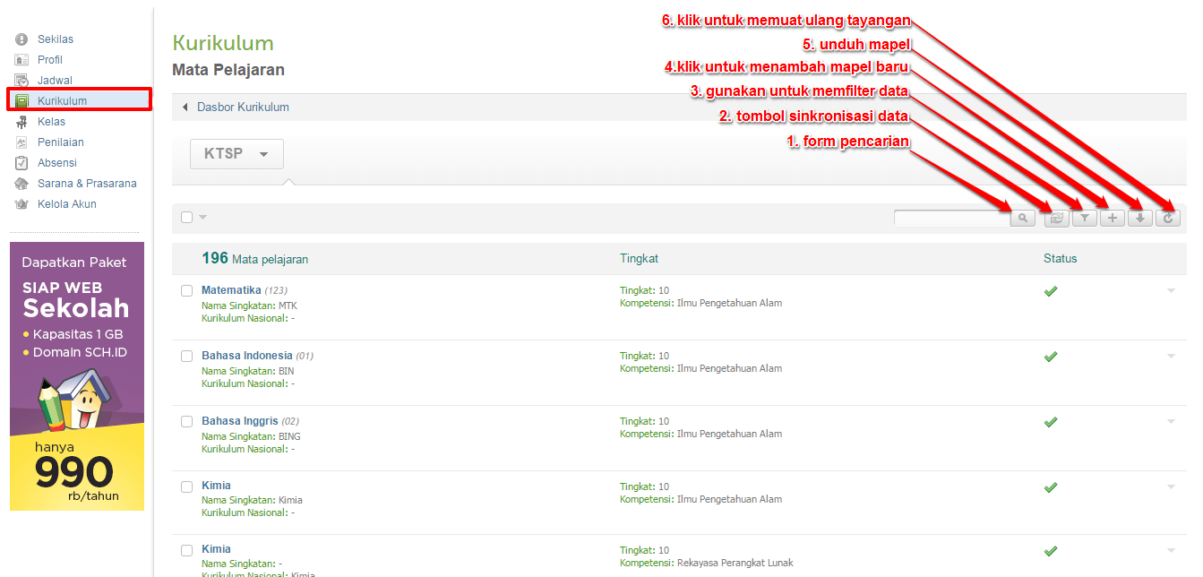 daftar mapel-setelah disinkronisasi