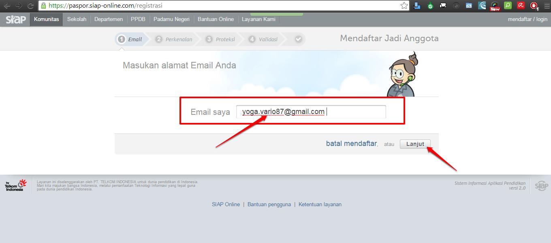 daftarkan email