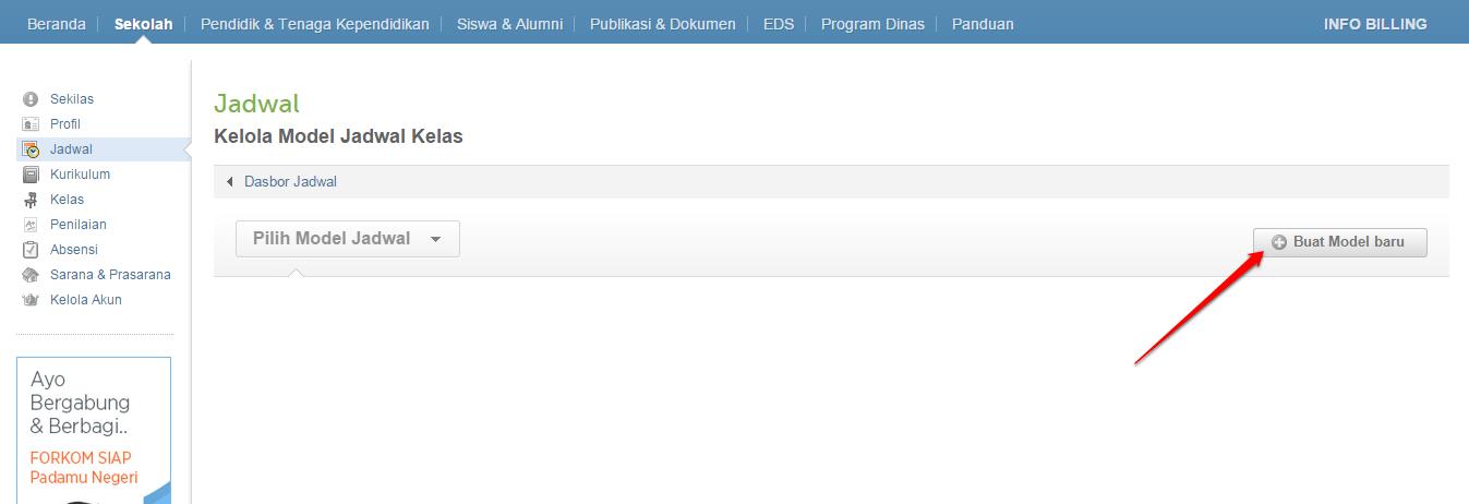 jadwal-klik buat model baru