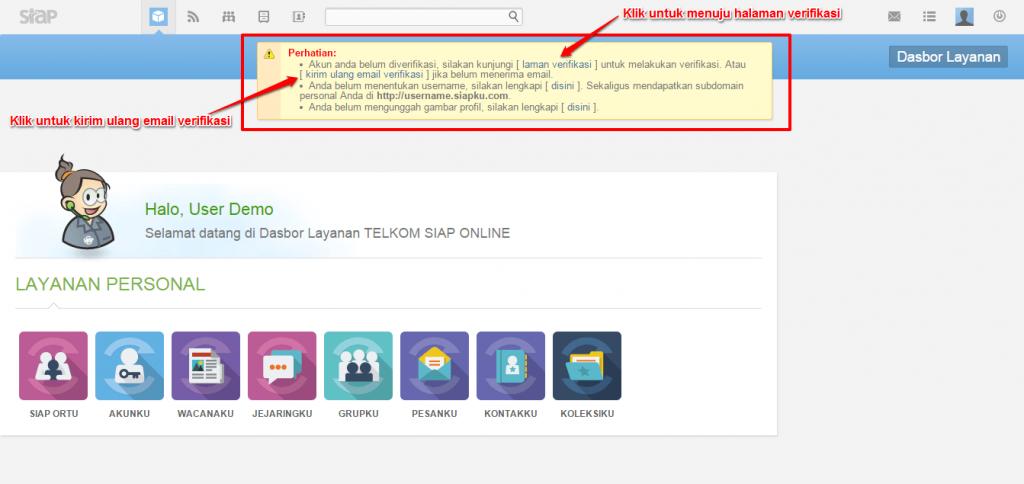 klik kirim ulang email verifikasi