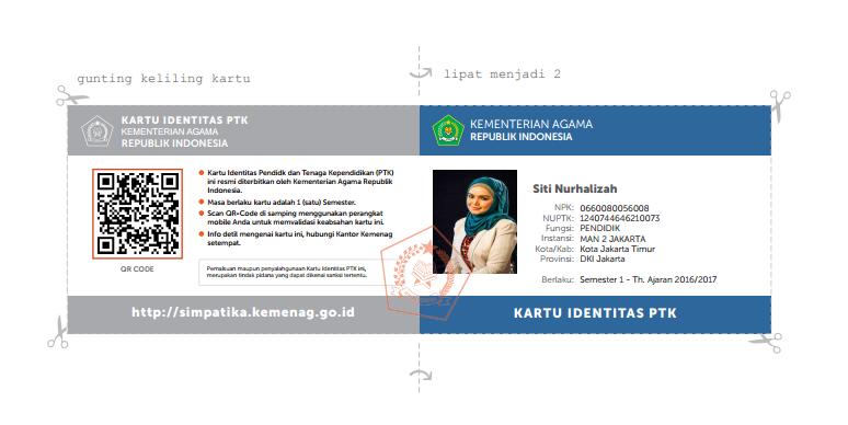 cetak kartu Cara Mudah Cetak S25 Keaktifan Kepala Madrasah Tahun 2016