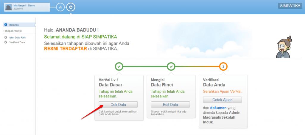 klik cek data