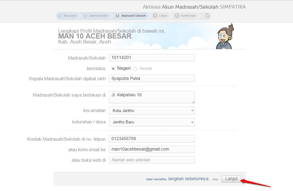 lengkapi profil madrasah