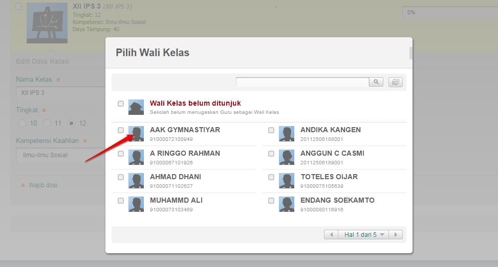 PILIH GURU SBG WALI