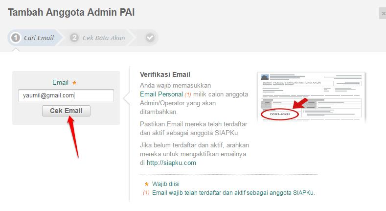 klik cek email