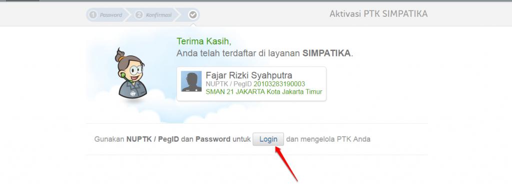 klik login